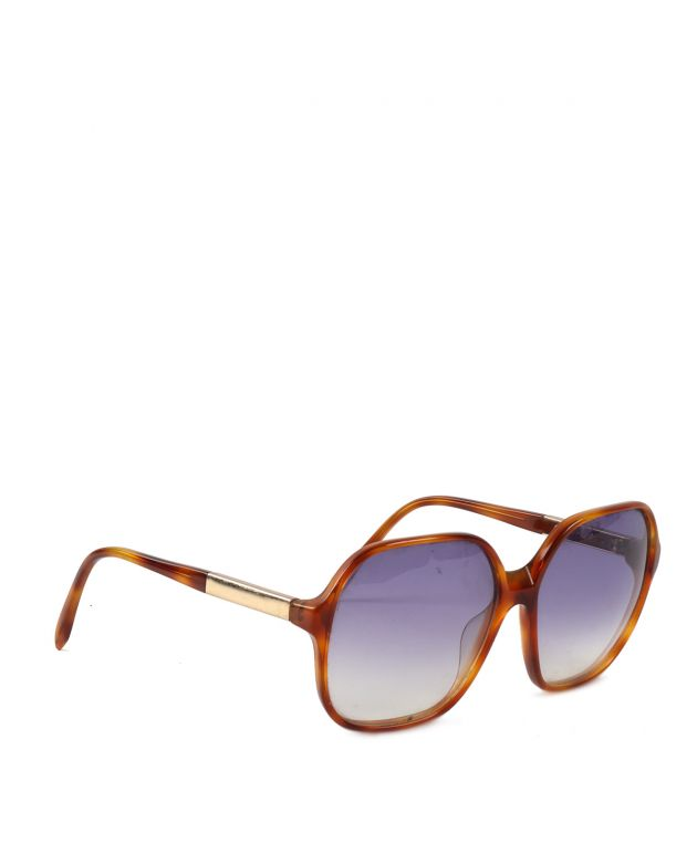 Light Brown acetate square frame sunglasses