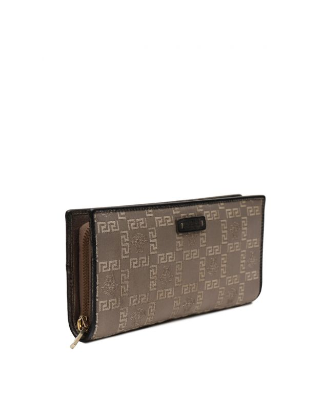 Signature Monogram Zip Around Womans Wallet