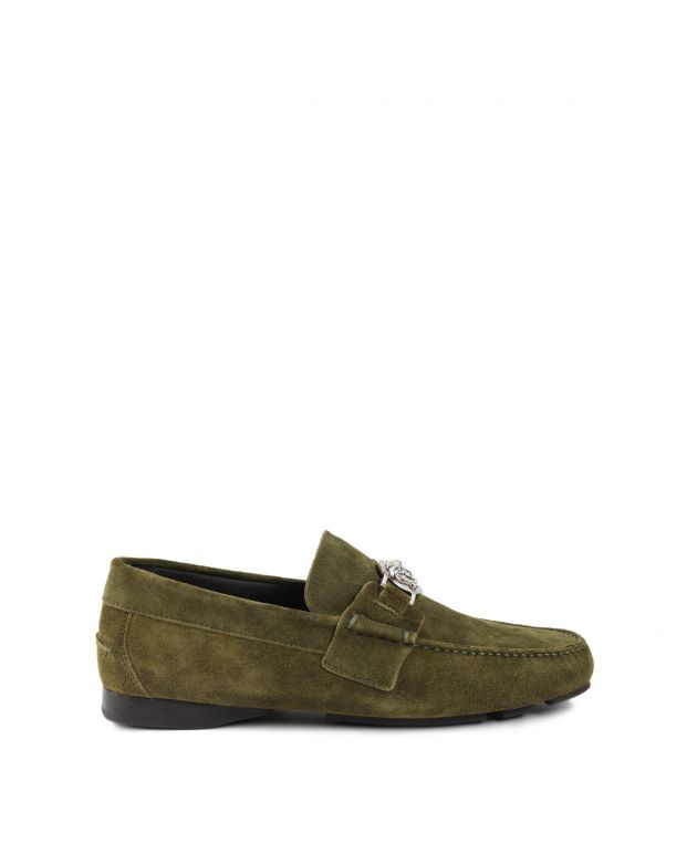 Men's olive green loafers size 40