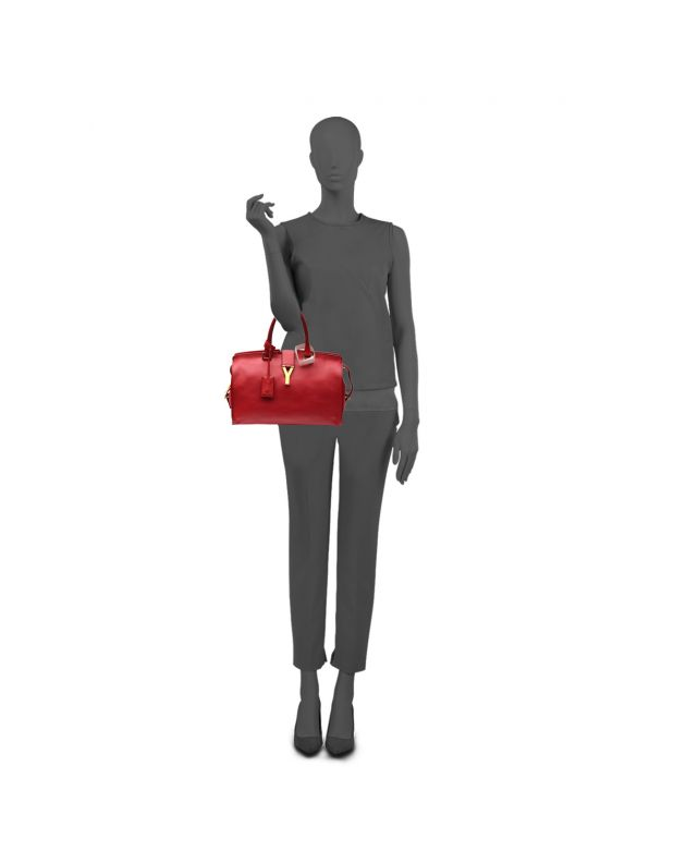 RED LEATHER CABAS CHYC TOTE