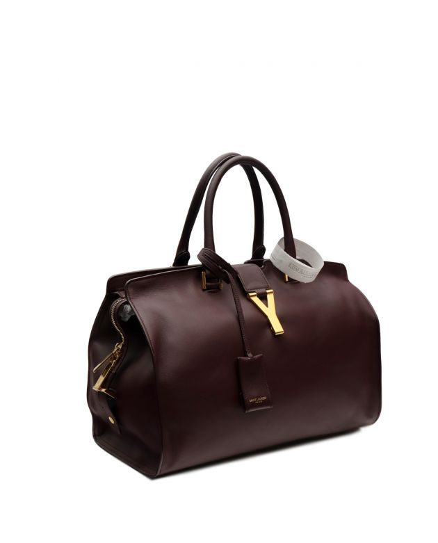 Burgundy LEATHER CABAS CHYC TOTE