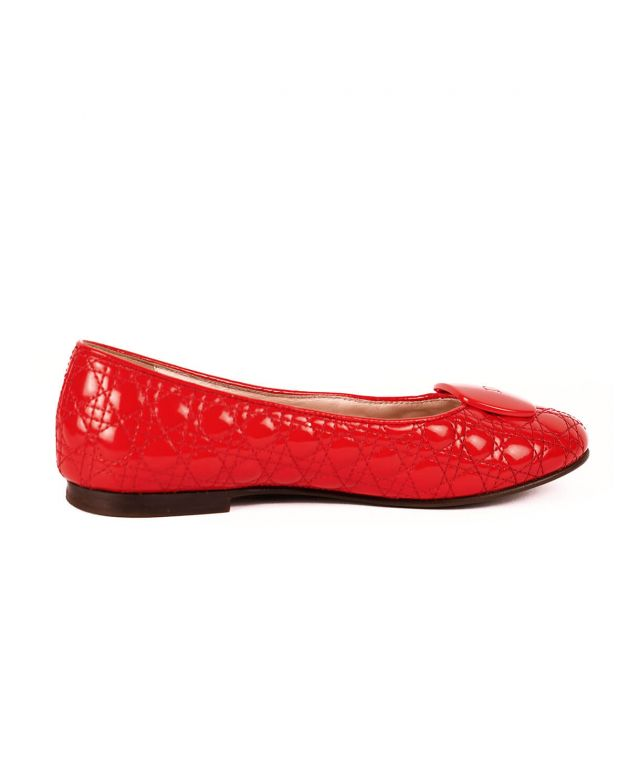 Dior Kid's Red Belle Flats Size 34