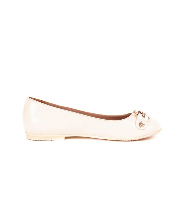 Young Versace White Kids Belle Flats Size-35