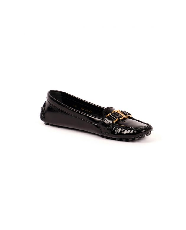 LV Patent Leather Logo Loafers Size 36