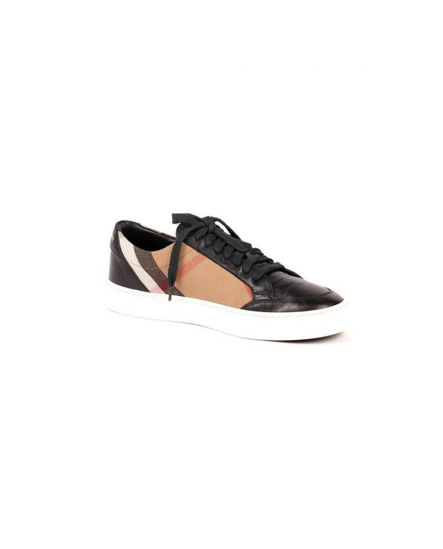 Check Canvas And Leather Sneakers Size 37