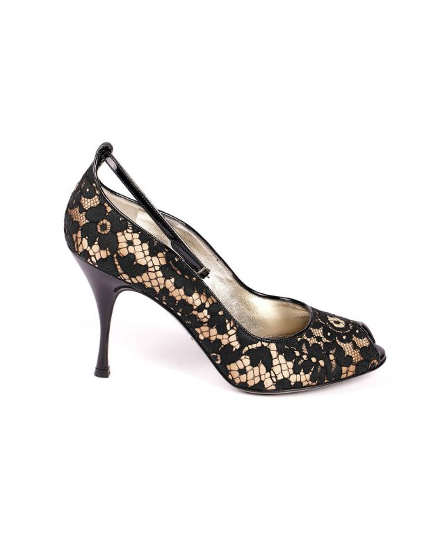 D & G Lace Peep Toes - Size 40