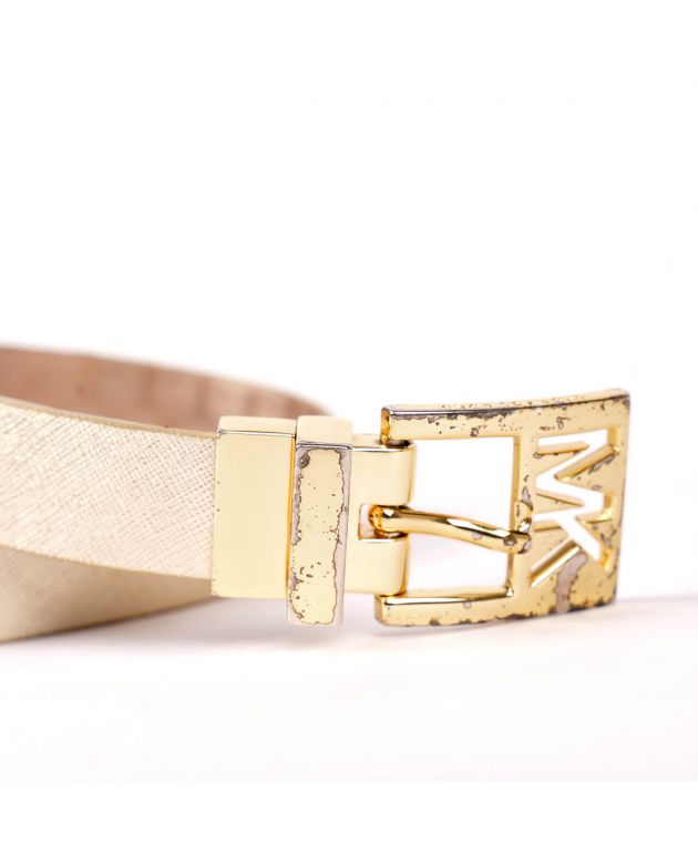 Michael Kors Gold Slim Belt Size M