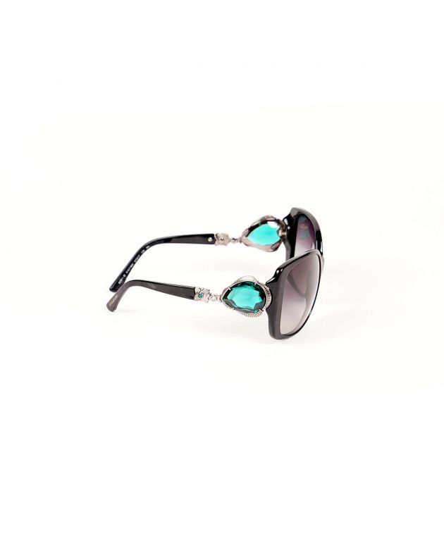 Multicolor Oversized Stone Embellished Sunglasses