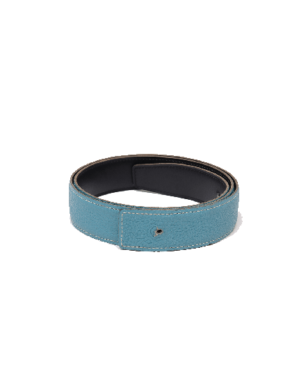 Hermes Blue & Black Unisex Belt in Size 90