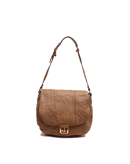 Chloe light brown Elsie neo folk shoulder bag