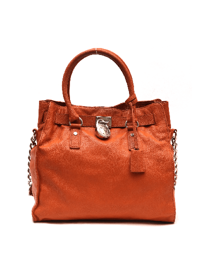 Michael Kors burnt orange soft leather hamilton
