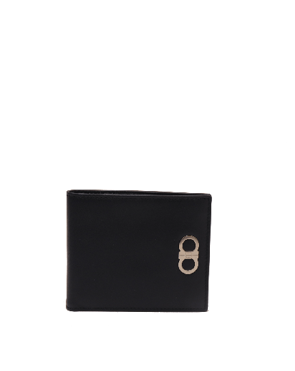 SALVATORE FERRAGAMO MEN'S REVIVAL GANCINI BI-FOLD LEATHER WALLET