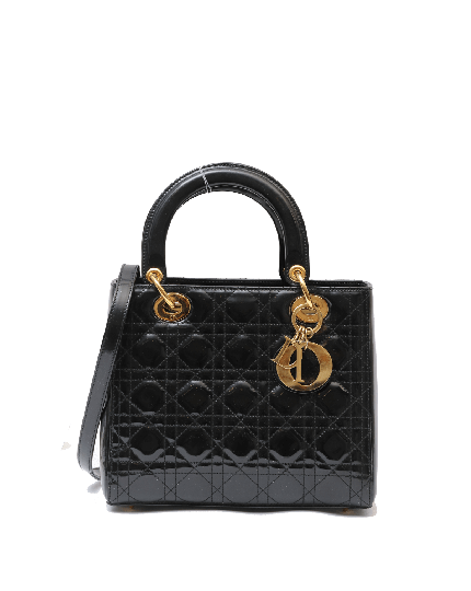 Lady Dior Patent Leather Medium Bag