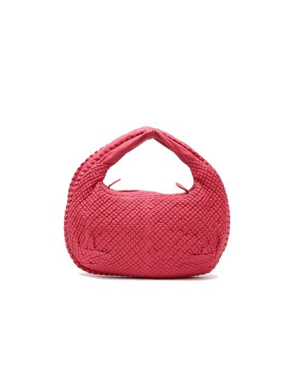 Bottega Venetea Pink Intrecciato Woven Nappa Leather Small Shoulder Bag