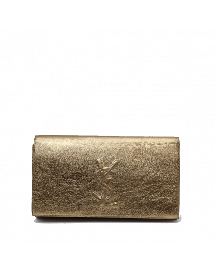 Yves Saint Laurent Gold Clutch