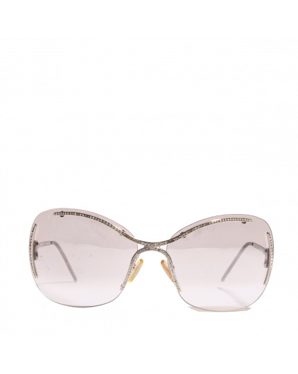 Embellished Rimless Sunglasses