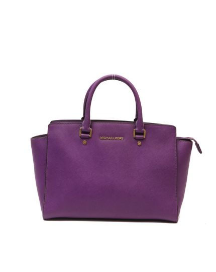 MICHAEL KORS PURPLE SELMA BAG