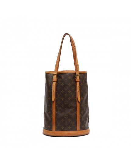 LOUIS VUITTON BROWN MONOGRAM BUCKET BAG