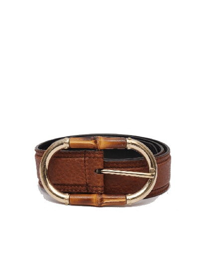 GUCCI BAMBOO LEATHER BELT SIZE 30