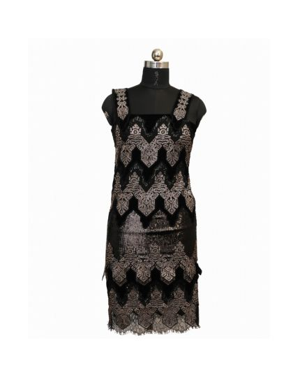 DVF Sequin Black Dress