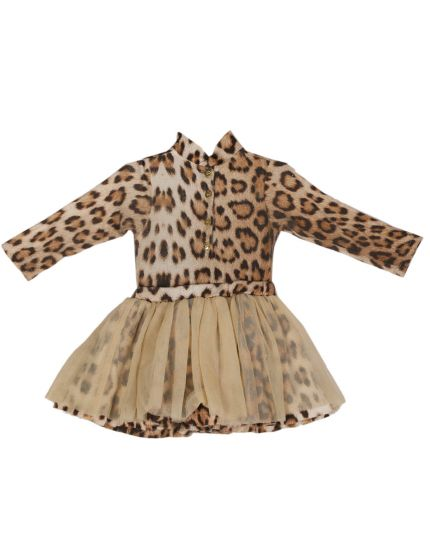 Roberto Cavalli Girls Leopard Print Dress Size 9