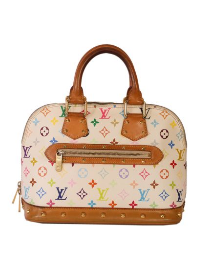Louis Vuitton White Multicolored Alma PM