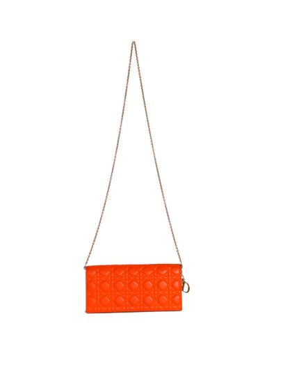 Christian Dior Quilted Cannage Leather Chain Clutch