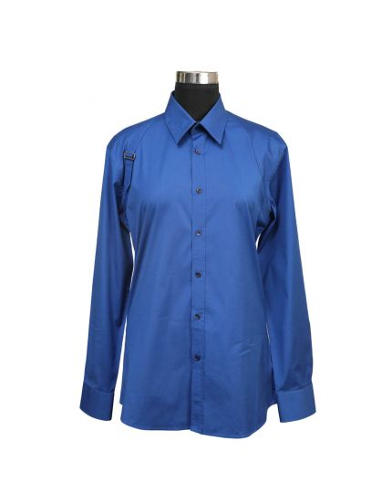 Alexander Mcqueen Men's Blue Shirt