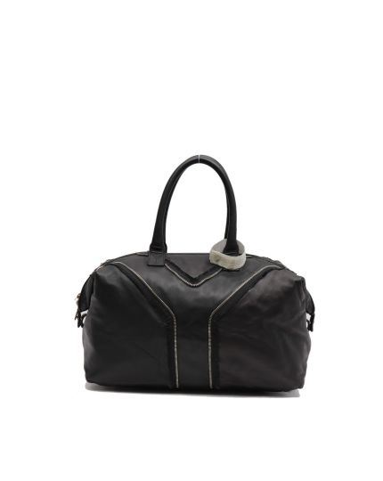 YVES SAINT LAURENT BLACK QUILTED MUSE BAG