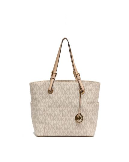 MICHAEL KORS WHITE MONOGRAM TOTE BAG