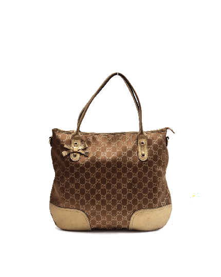GUCCI BROWN MONOGRAM HOBO BAG