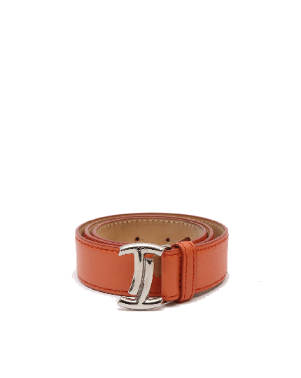 Tod's Orange Leather Belt Size 24