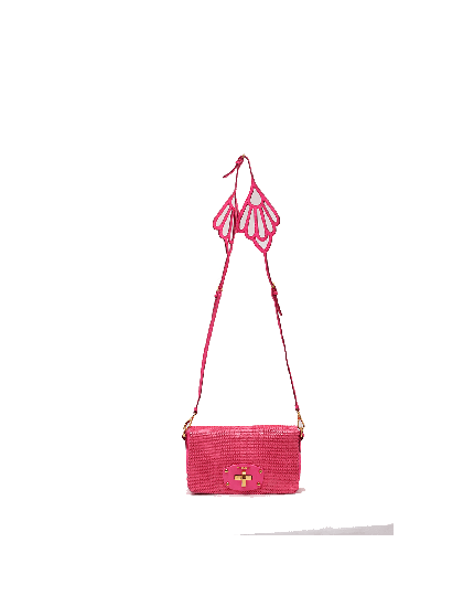 Miu Miu butterfly pink sequins bag