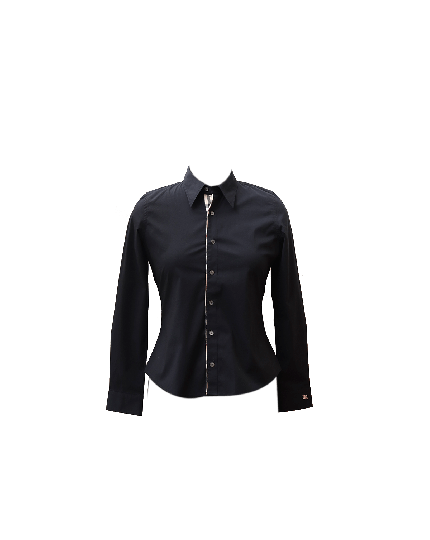 BURBERRY WOMEN'S BLACK SHIRT SIZE XS