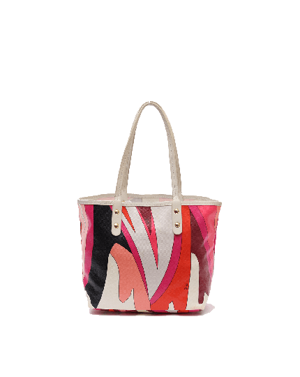 Emilio Pucci muticolor canvas small tote