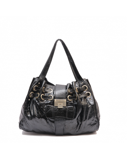 Jimmy Choo Romana Black Patent Bag