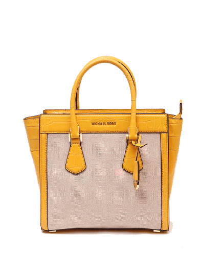 Michael Kors Yellow Structured Tote