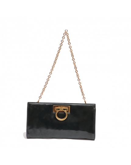 SALVATORE FERRAGAMO GINNY PATENT LEATHER BAG