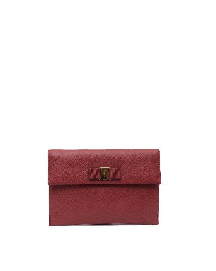 SALVATORE FERRAGAMO BOW CLUTCH