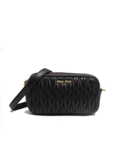 MIU MIU Rider Matelasse Leather Belt Bag