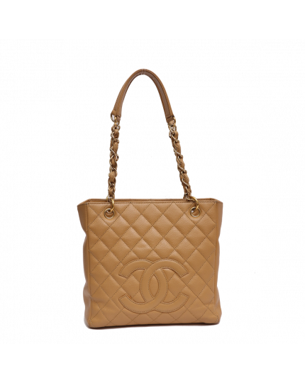 CHANEL BEIGE PETITE TIMELESS TOTE