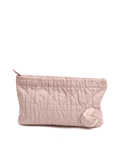 Dior Quilted Cannage Flower Clutch