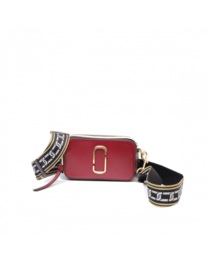MARC JACOBS RED SMALL CAMERA SNAPSHOT BAG