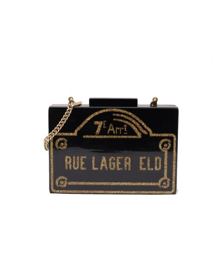 KARL LAGERFELD RUE LAGER ELO BOX CLUTCH
