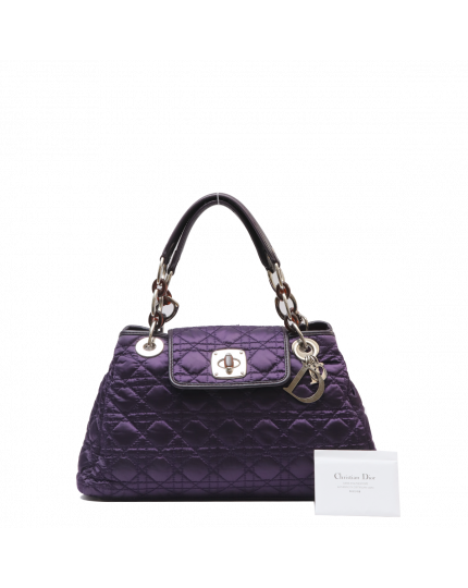 Christian Dior Purple Nylon Bag