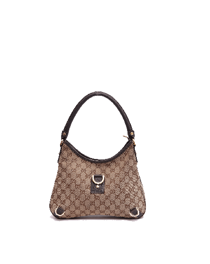 Gucci Brown/Beige GG Canvas Abbey Shoulder Bag