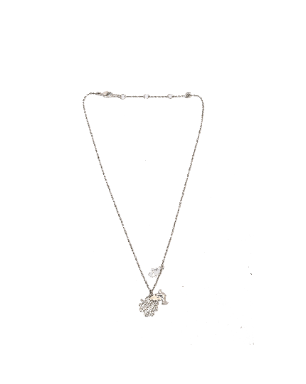 Dior silver bird charm necklace