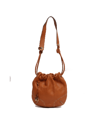 AIGNER MINI TAN BUCKET BAG
