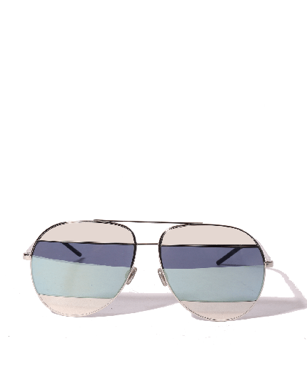 CHRISTIAN DIOR WOMEN'S SPLIT PALLADIUM AVIATOR