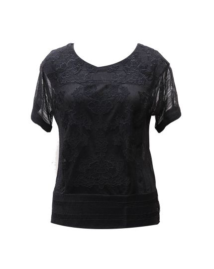 KAREN MILLEN SHEER BLACK NET TOP
